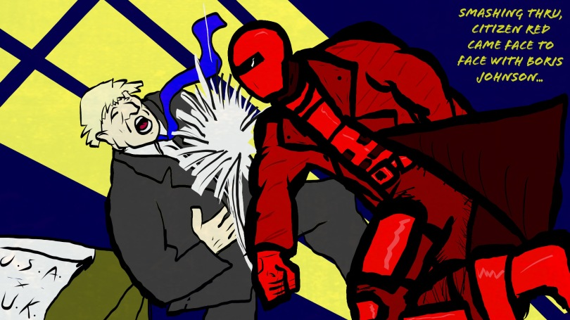 citizen red superhero vs boris johnson